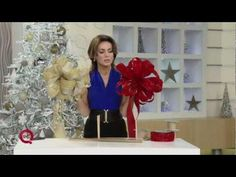 How-to make a Christmas bow with ribbon with host @Lisa Robertson QVC. #DIY #holidays