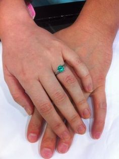 Beautiful Emerald Engagement Ring!