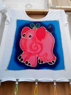 Batik sur t-shirts fille 4-6 ans