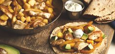 Chicken Mango Fajitas Healthy Dinner Ideas for Delicious Night & Get A Health Deep Sleep Pork Recipes, Mexican Food Recipes, Chicken Recipes, Dinner Recipes, Dessert Recipes, Cooking Recipes, Healthy Recipes, Dessert Food, Dinner Ideas