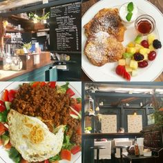 Hidden behind a wooden door you wouldn't expect much but this tiny place in Williamsburg NYC is a must visit! World dishes with a Japanese twist. Perfect. There is even a tree growing through the roof :) Get the homemade croissants with cream and fruits or the reinvented TexMex taco's on rice like we did. by thetraveltester