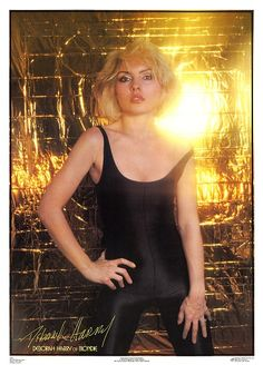 Deborah Harry Of Blondie (Poster)  Year: 1979   Info: Photo by Chris Stein. Produced for exclusive distribution in the UK by London Posters. Printed in the USA. Catalogue Number 3756   Size: 51cm x 71cm http://www.rip-her-to-shreds.com