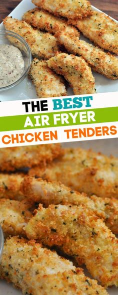 Air Fryer Chicken - The best way to cook chicken tenderloins in the air fryer. Made with panko breadcrumbs, the whole family will love these delicious fried chicken tenders. with chicken tenderloins Air Fryer Chicken Air Fryer Recipes Meat, Air Frier Recipes, Air Fryer Dinner Recipes, Recipes Dinner, Air Fryer Chicken Tenders, Fried Chicken Tenders, Recipes For Chicken Tenderloins, Air Fry Chicken, Air Fryer Recipes Chicken Tenders