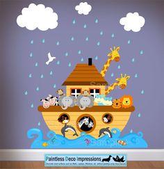 My Baby Girl will need this!!  Children Noahs Ark Wall  Nursery Decal by paintlessdecoimpress