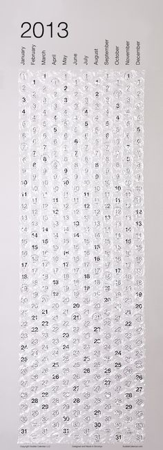 Bubble wrap calendar. home in HEL | Helsinki Lifestyle and Interior Design Blog