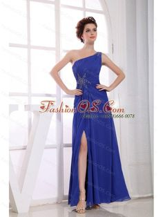 prom dresses wedding guest dresses homecoming dresses 2013 short outstanding split-front sheath oblique ankle length chiffon blue party dress with beading Prom Dresses Online, Pageant Dresses, Homecoming Dresses, Bridesmaid Dresses, Prom Gowns, Bridesmaids, Graduation Dresses, Dress Online, Cute Wedding Dress
