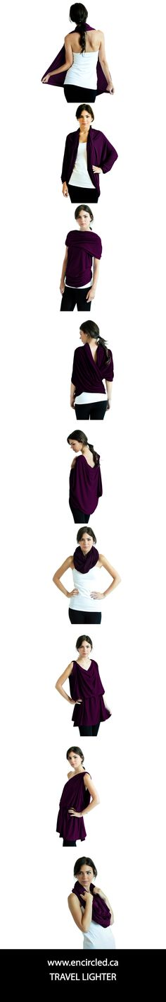 travel lighter with multifunctional clothing for women