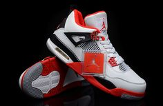 """Air Jordan 4 White / Varsity Red Men Shoes  Whether you want to call them the """"Varsity Red,"""" """"Fire Red"""" or """"Mars"""" 4s, these new Air Jordan sneakers are hotness.  The hype around these retro kicks has been crazy, with new pics circulating the net daily"""