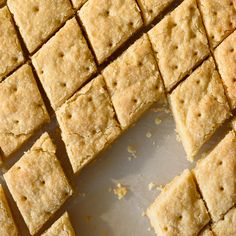 Buttery Lemon Shortbread Squares - Fork Knife Swoon
