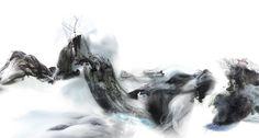 """青山白云飞""[局部b] 陆军 Lu Jun 相关连接; http://www.apple.com/cn/start-something-new/painting-landscapes/"