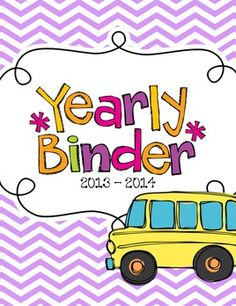 Updated each year so you only buy it once! Yearly Teacher Binder for Organization :)