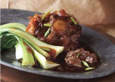Braised Oxtails with Star Anise and Chinese Greens - Bon Appétit