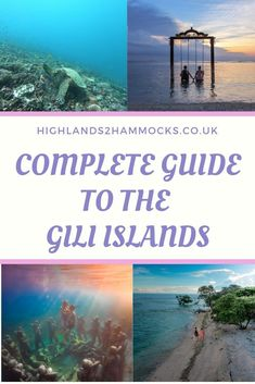 A full guide to your trip to the Gili Islands. These islands belong to Lombok and are located near to the popular Indonesian island, Bali. Have you been to the Gili Islands? Vietnam Travel, Thailand Travel, France Travel, Asia Travel, Gili Islands Bali, Weather In France, Bali Lombok, Senior Trip, Best Sunset