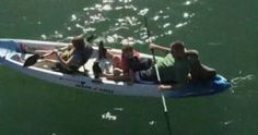 This family picked up an adorable hitchhiker while kayaking in California