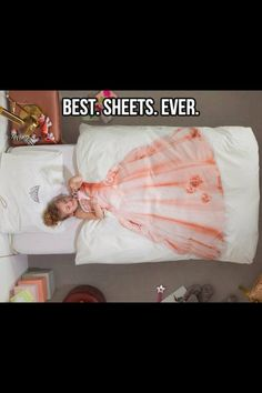 So sweet for a little girls bed