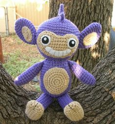 WolfDreamer: Aipom Plushie  I've decided I'm making Fox some pokemon themed doggie toys!