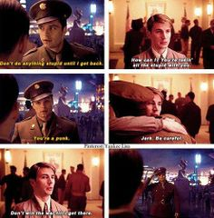 Captain America: The First Avenger. I love that they showed the brotherly friendship Steve has with Bucky. Of course, that makes your heart break all the more in The Winter Soldier film.