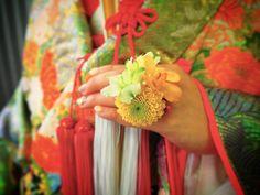 「色打掛&フラワーリング  #flower_ring  #Fleur_de_soleil #finger_bouquet  #色打掛 #Japanese_wedding #flowers #フラワーリング #flower #和装」
