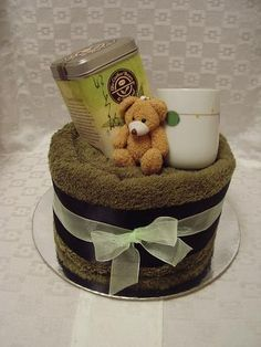 Get well soon towel cake
