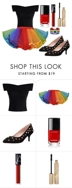 """""""Outfit #1066"""" by ivanna1920 ❤ liked on Polyvore featuring Chicwish, Boutique Moschino, NARS Cosmetics, Stila and Elizabeth Raine"""