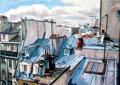 Paris oil on canvas 26 x 36 cm
