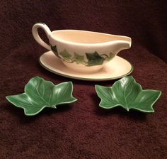 Vintage Franciscan Ivy Green Rim Gravy Boat California Pottery / China - I Love Lucy \u0026 Ethel Dinnerware - USA & Franciscan Ivy dinnerware on I Love Lucy | I Love Lucy Decor ...