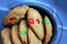M 'n' M cookie recipe with pecans (double it---you will love the dough!) from @talkoftomatoes