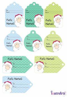 Etiquetas de Natal gratuitas para imprimir e usar - Etiquetas de Natal Grátis para imprimir e usar - Christmas Gift Tags, Vintage Christmas, Christmas Crafts, Xmas, Gift Tags Printable, Christmas Printables, Diy And Crafts, Scrapbooking, Cards