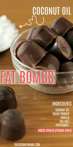 These coconut oil fat bombs help to speed up your metabolism, support your thyroid and boost your energy! These coconut oil fat bombs help to speed up your metabolism, support your thyroid and boost your energy! Peanut Butter Bombs, Coconut Fat Bombs, Coconut Peanut Butter, Lemon Coconut, Almond Butter, Coconut Oil Chocolate, Chocolate Fat Bombs, Low Carb Chocolate, Chocolate Recipes