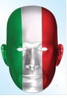 Italy Flag Mask. A fun look to support your country, http://www.novelties-direct.co.uk/Italy-Flag-Mask.html