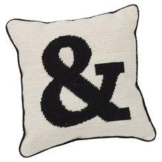 Alphabet Needlepoint Pillows, Ampersand