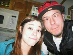 The first picture we ever really took together (: Jerrick's birthday party, Feb 2012