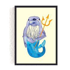 Print *Neptun als Walross* #neptun #poseidon #walross