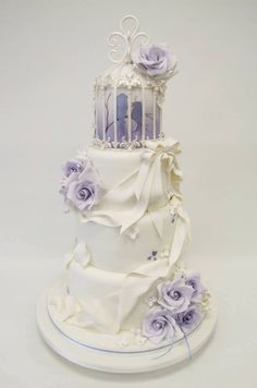 Emma Jayne Cake Design added 431 new photos to the album: WEDDING CAKES — with Nenyiaba Ofuzim Precious and Nia Evans. Purple Wedding Cakes, Beautiful Wedding Cakes, Gorgeous Cakes, Pretty Cakes, Amazing Cakes, Dream Wedding, Bird Cage Cake, Beautiful Cake Pictures, Wedding Cake Cookies
