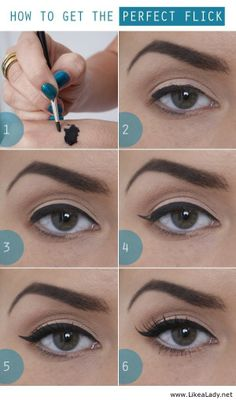 Beauty Tutorials For Dramatic Holiday Looks Perfect Eyeliner Tutorial - I wish I could manage this!Perfect Eyeliner Tutorial - I wish I could manage this! Eyeliner Hacks, Eyeliner Flick, Apply Eyeliner, Eyeliner Wing, Eyeliner Liquid, Eyeliner Styles, Black Eyeliner, Easy Eyeliner, Dramatic Eyeliner