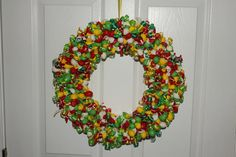 Custom Color Balloon Wreath for a Peter Pan themed party by LittleCraftyCottage on Etsy, $55.00