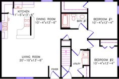Image result for 24 x 40 floor plans
