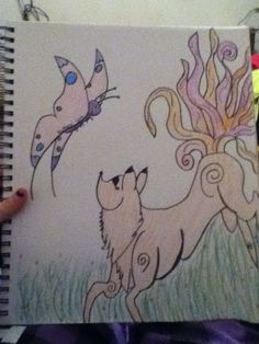 Fox and butterfly after color - Megan Szczudlik