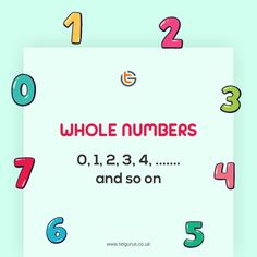 Whole Number in Mathematics The Whole Numbers starts from the 0,1,2....... and so on. Whole Numbers are also known as Positive Integers and non-negative integers. It also includes natural numbers which start from 1,2,3 and so on Make your child fear-free from Mathematics with online learning at TEL Gurus. Online Math Classes, Online Tutoring, Negative Integers, Natural Number, Classroom Environment, Mathematics, Your Child, Numbers, Knowledge