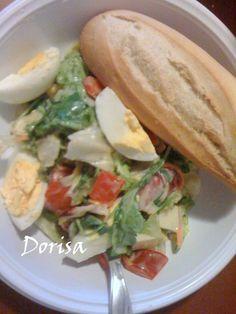 Zeleninový šalát  s vajcom Hot Dog Buns, Hot Dogs, Salads, Tacos, Bread, Ethnic Recipes, Food, Brot, Essen