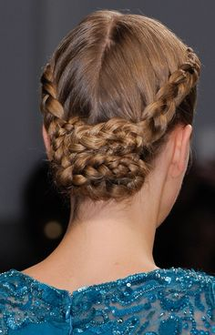 Double braided chignon how to