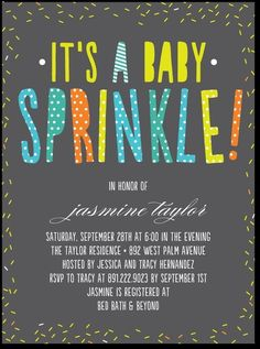 another sprinkle invite