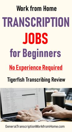 Transcription Jobs at Tigerfish Transcribing - No Experience Needed - Make Money Working from Home: Work from Home Jobs, Online Jobs and Side Hustles Work From Home Opportunities, Work From Home Jobs, Make Money From Home, Way To Make Money, Money Fast, Make Money Blogging, Money Saving Tips, Make Money Online, Online Income