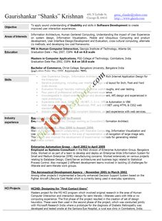 free sample resume for software engineer httpwwwresumecareerinfo - Free Sample Resume