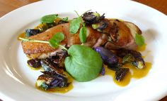 Nate Smith's Duck Breast with Saffron Onions, Flame Raisins & Purple Brussels Recipe Raisin Recipes, Duck Recipes, Bacon Recipes, Brussels Recipe, Duck Breast Recipe, Meat Delivery, Recipe D, Sunday Recipes, Slow Roast