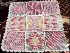 """""""Children plaid woven cloth simulation"""" crochet mesh threaded with chains, have to try this! Double Crochet Baby Blanket, Crochet Baby Blanket Tutorial, Baby Afghan Patterns, Crochet Blanket Patterns, Crochet Ideas, Crochet Stitches, Crochet Chain, All Free Crochet, Single Crochet"""
