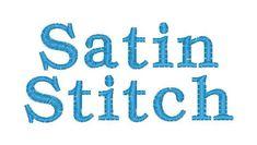 Satin vs. Fill Stitch | Applique Cafe Blog