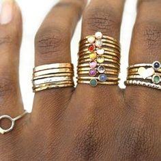 Birthstone Stacking Ring Gemstone Ring Mothers Ring Gold | Etsy Birthstone Stacking Rings, Black Diamond Earrings, Raw Gemstone Ring, October Birth Stone, December Stone, Mother Rings, Raw Gemstones, Natural Gemstones, Purple Amethyst