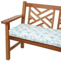 Aqua Starfish 60-inch Indoor/ Outdoor Corded Bench Cushion - Overstock Shopping - Big Discounts on Outdoor Cushions & Pillows