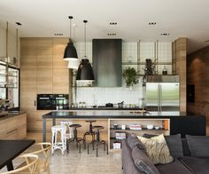 Architect Andrew Patterson designs a new Auckland home inspired by the symmetry and severity of late Italian modernist buildings DESIGN… Kitchen Interior, Kitchen Design, Kitchen Ideas, Interior Styling, Interior Design, Garden Pavilion, Country Lifestyle, Inside Home, House And Home Magazine